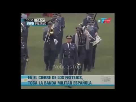 Banda Militar Española en Buenos Aires, Argentina