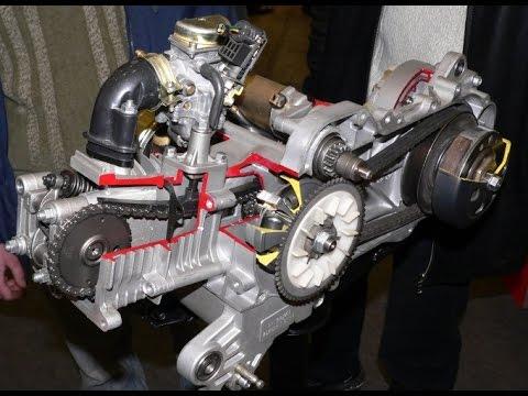 Двигатель с китайского скутера 139QMB 50cc - YouTube