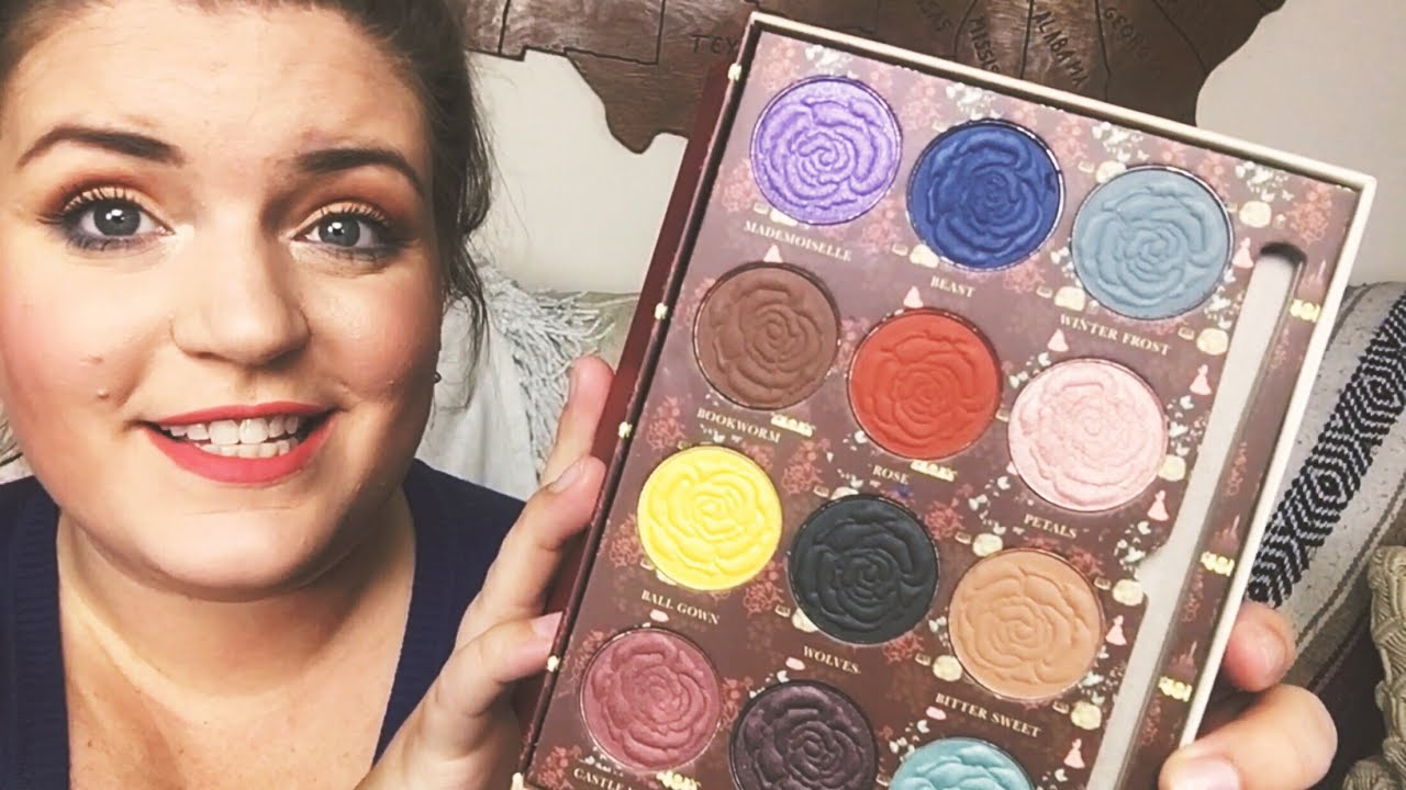 Beauty And The Beast Eyeshadow Palette Hot Topic Makeup Swatches
