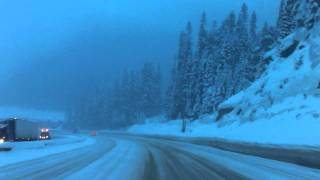 Driving the Smasher on the Coquihalla highway mid winter 2011