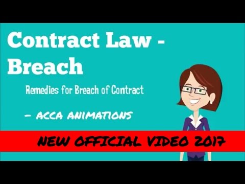 ACCA F4 Business Law - Breach of contract - Damages ✓