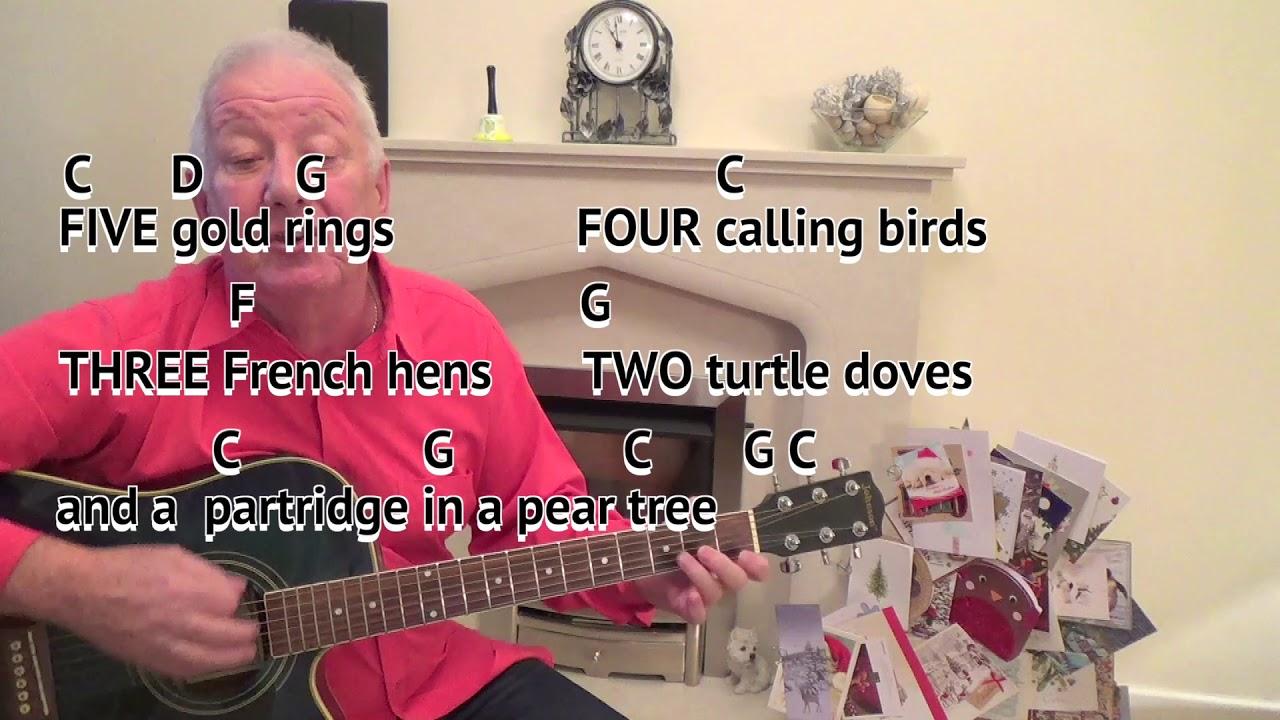12 Days Of Christmas Christmas Carol Key C Major Guitar Lesson