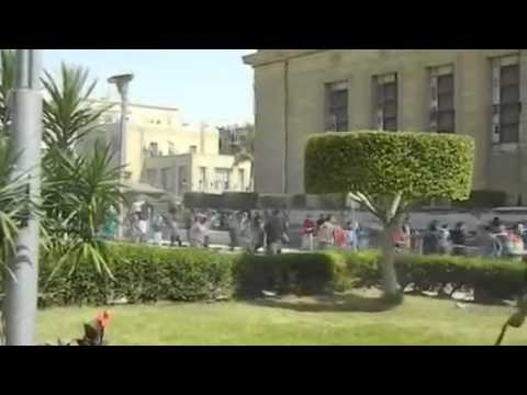 Cairo students clash with security ahead of Mursi trial