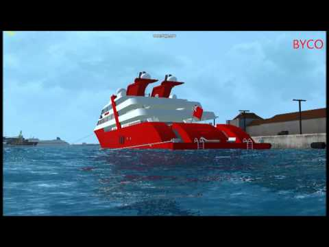 A look at the super yacht, Ocean Superior in Vehicle Simulator