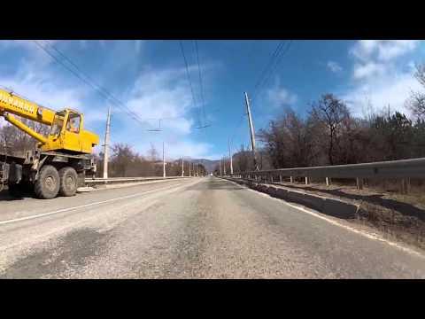 DRIVING CAR IN CRIMEA FROM ALUSHTA TO SIMFEROPOL