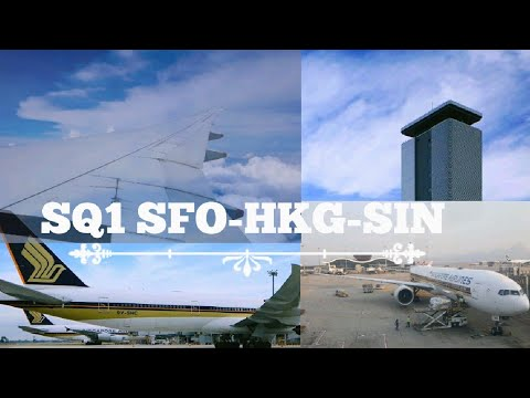 Full Flight Sq1 Sfo Hkg Sin Singapore Airlines B777 300er 9v Swu
