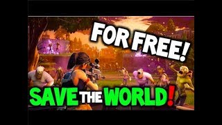 "Fortnite ""Save the World"" Gratuitement! (Console) (Mise à jour)!!"