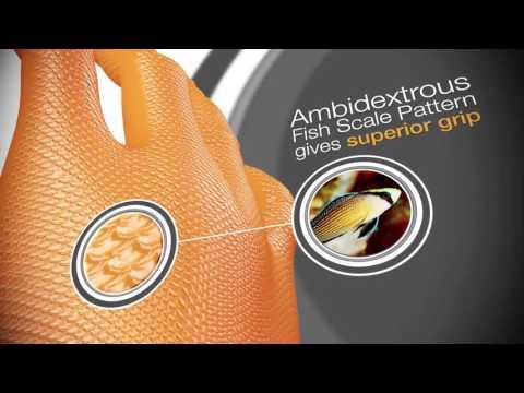 Bob Dale Gloves 99-1-6100B, Grippaz, Disposable Nitrile Gloves 6mil., Orange - Large