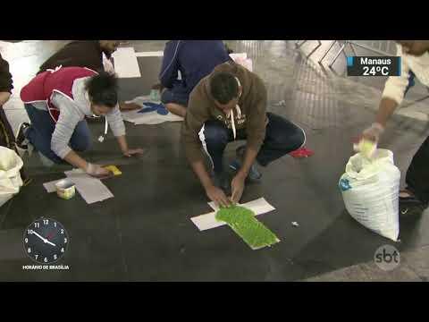 Fiéis preparam tapetes coloridos para o feriado de Corpus Christi | SBT Notícias (31/05/18)