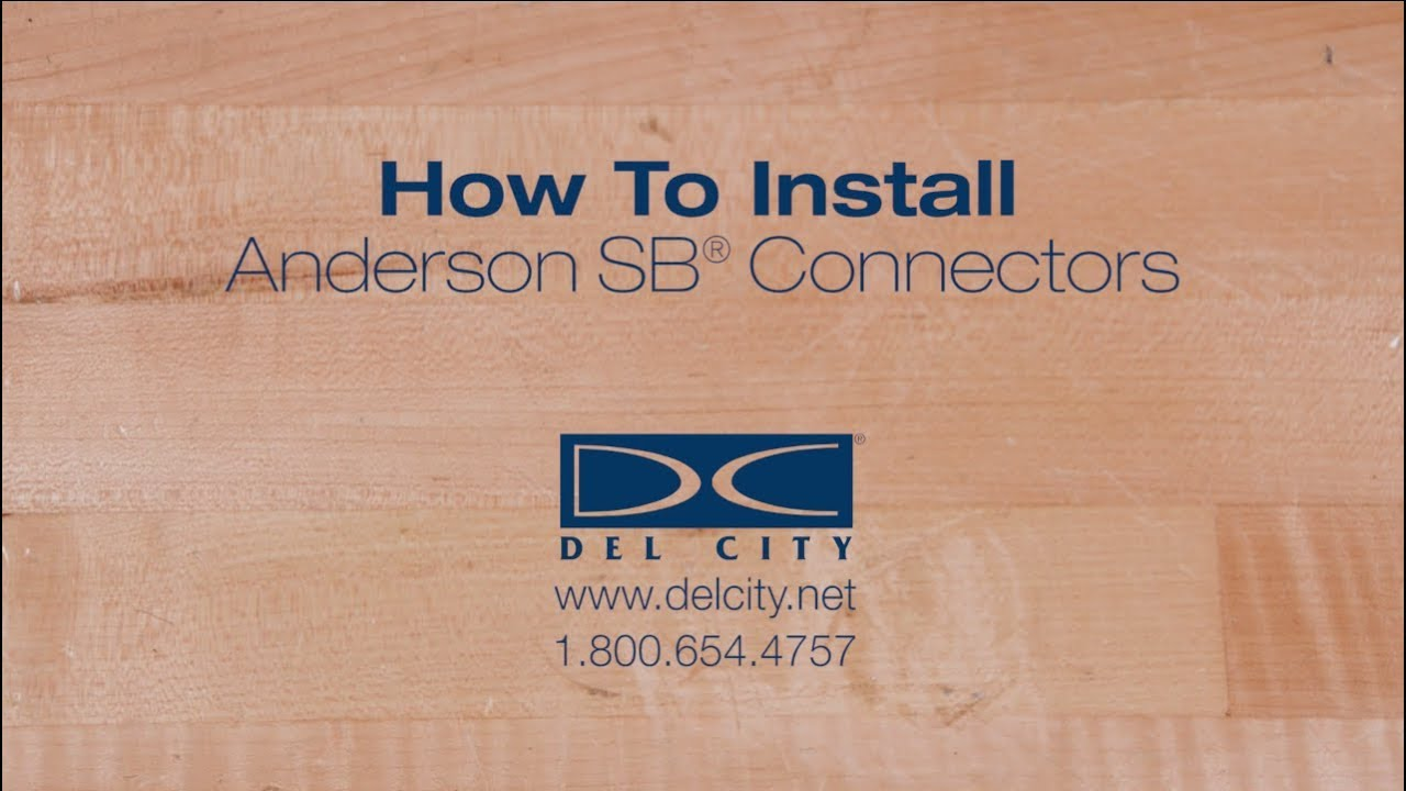 How To Install Anderson Connectors Youtube Trailer Wiring Diagram