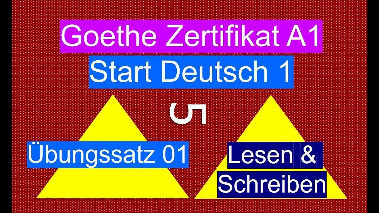 Goethe Zertifikat A1 Lesen & Schreiben - German Reading