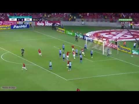 Gol de falta de d'alesandro no GreNal 415 (Inter 2×0 Grêmio)