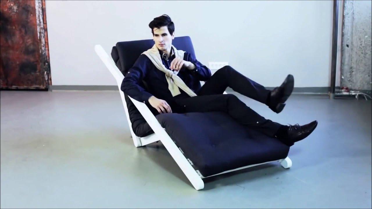 chaise longue convertible style scandinave figo futon karup youtube. Black Bedroom Furniture Sets. Home Design Ideas