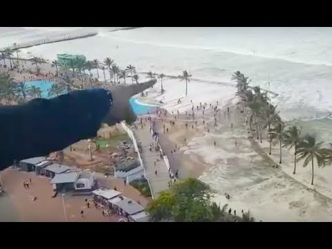 Surprise giant wave took her 1km out to sea! / Small tsunami activates EMS in S Africa
