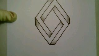 How To Draw The Impossible Triangle, Diamond New Optical Illusion Step By Step