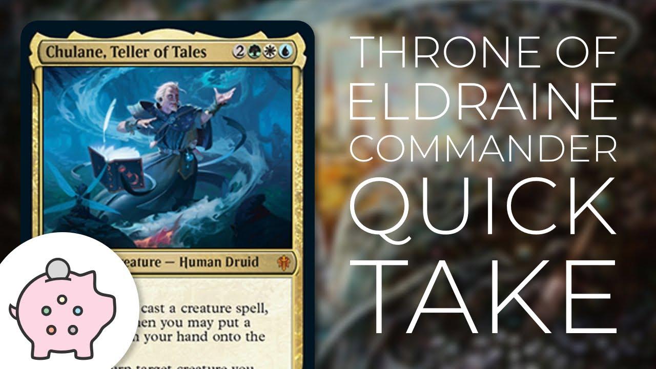Chulane, Teller of Tales | Throne of Eldraine Spoiler | EDH | Budget |  Lands | Commander Quick Take