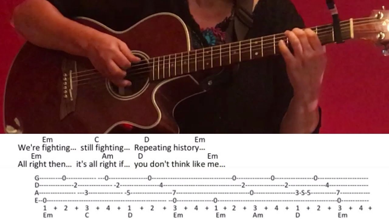 Lyrics and chords for guitar