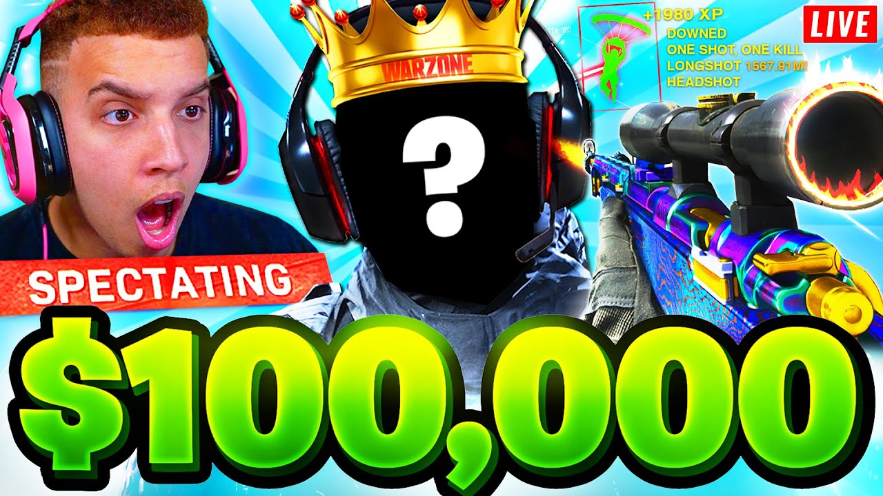 SPECTATING THE $100,000 SOLO WINNER in WARZONE TOURNAMENT! 🏆