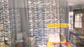 Grommet Panel Drapes Room Divider