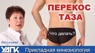 Устраняем ПЕРЕКОС ТАЗА. Мастер-класс Людмилы Васильевой. Прикладная кинезиология