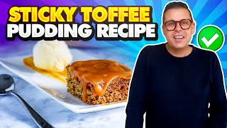 Sticky Toffee Pudding: How to Make Sticky Toffee Pudding Cake at home - Chef Jon Ashton