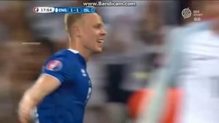 Anglia 1-2 Izland: Sigthórsson gól