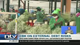 CBK warns weak exports will deteriorate debt position