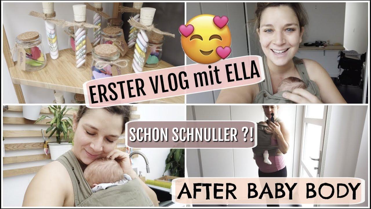 ERSTER VLOG mit BABY l SCHNULLER geben ?! l KEIN Babybesuch 😢l  So viel Wäsche 😫 HelloCathi