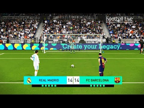 PES 2018 | REAL MADRID vs FC BARCELONA | El Clasico | Penalty Shootout & Full Match | Gameplay PC