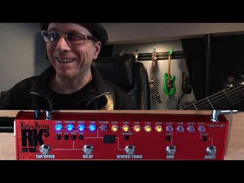 TECH 21 RK5 v2 Richie Kotzen Fly Rig, demo by Vince Genella NAMM 2019 pre-release.