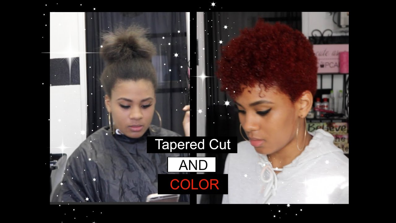 tapered cut natural hair and color