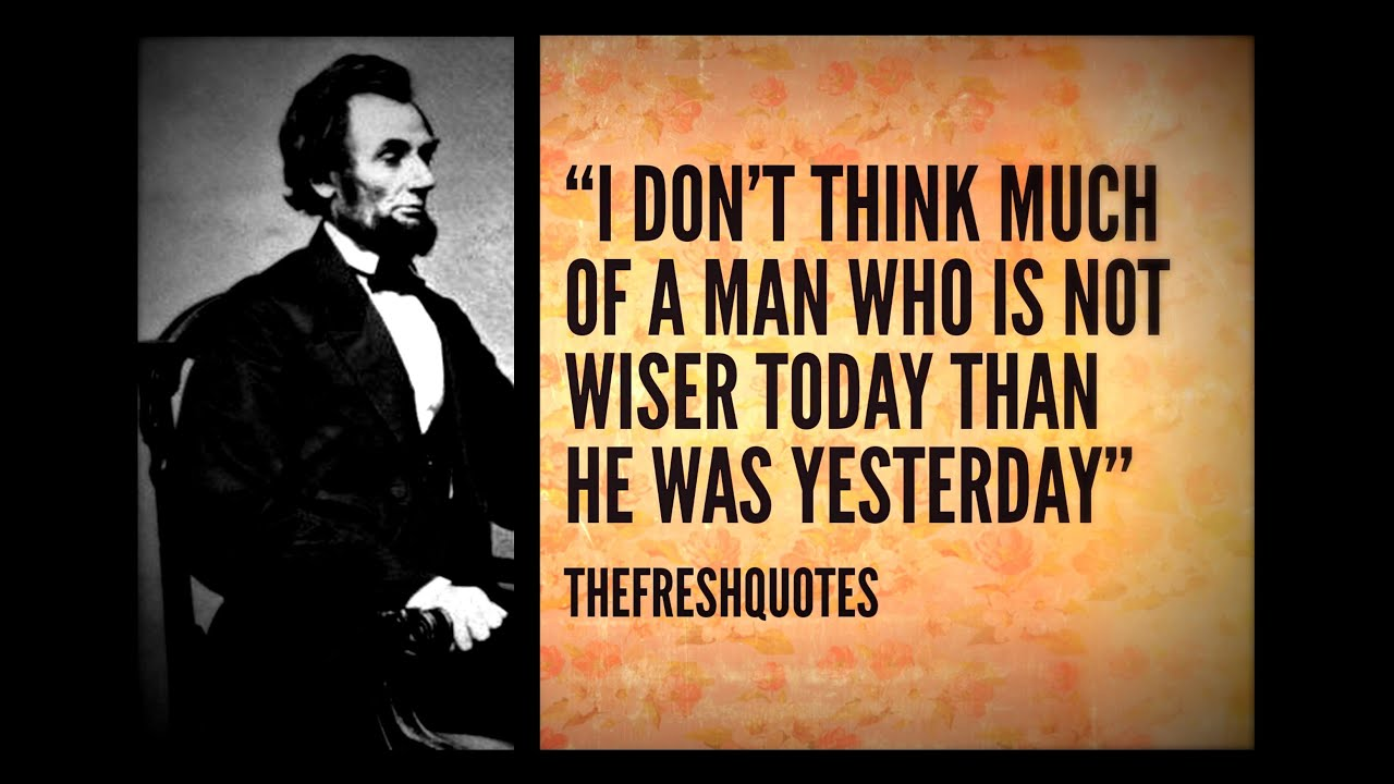 Inspirational Quotes   Abraham Lincoln Quotes   YouTube