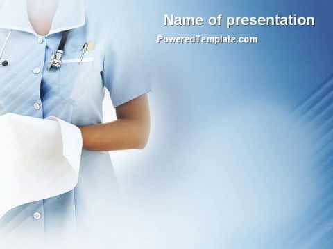 nurse powerpoint template by poweredtemplate, Powerpoint
