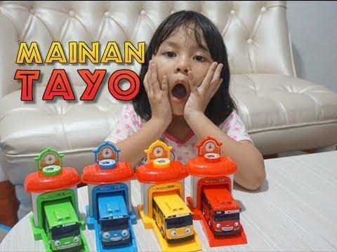 Mainan Tayo Unboxing Dan Main Mainan Tayo Youtube