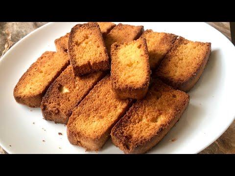 Cake rusk recipe tea time snack