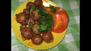 Мелкая картошка жареная в мультиварке (на сковороде)