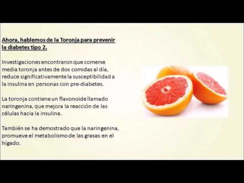 Remedios Naturales para la Prediabetes - TORONJA! - YouTube