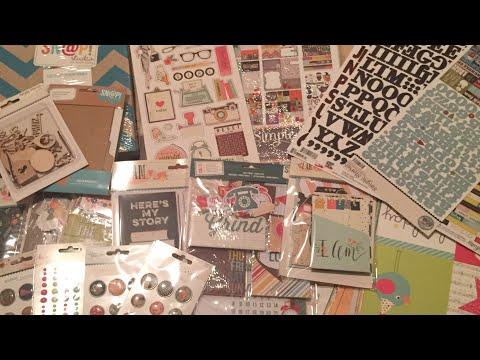 2017 Simple Stories Warehouse Box Sale  UnBoxing