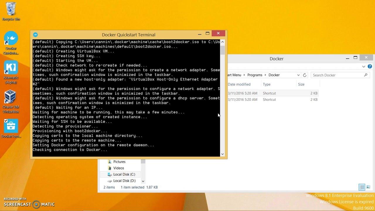 Install Docker Toolbox on Windows