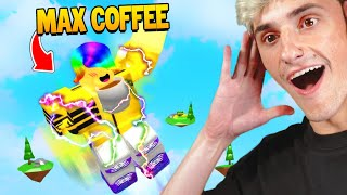 I DRANK ALL THE COFFEE ☕ I JUMPED TO THE MOON 🌙 (Roblox)