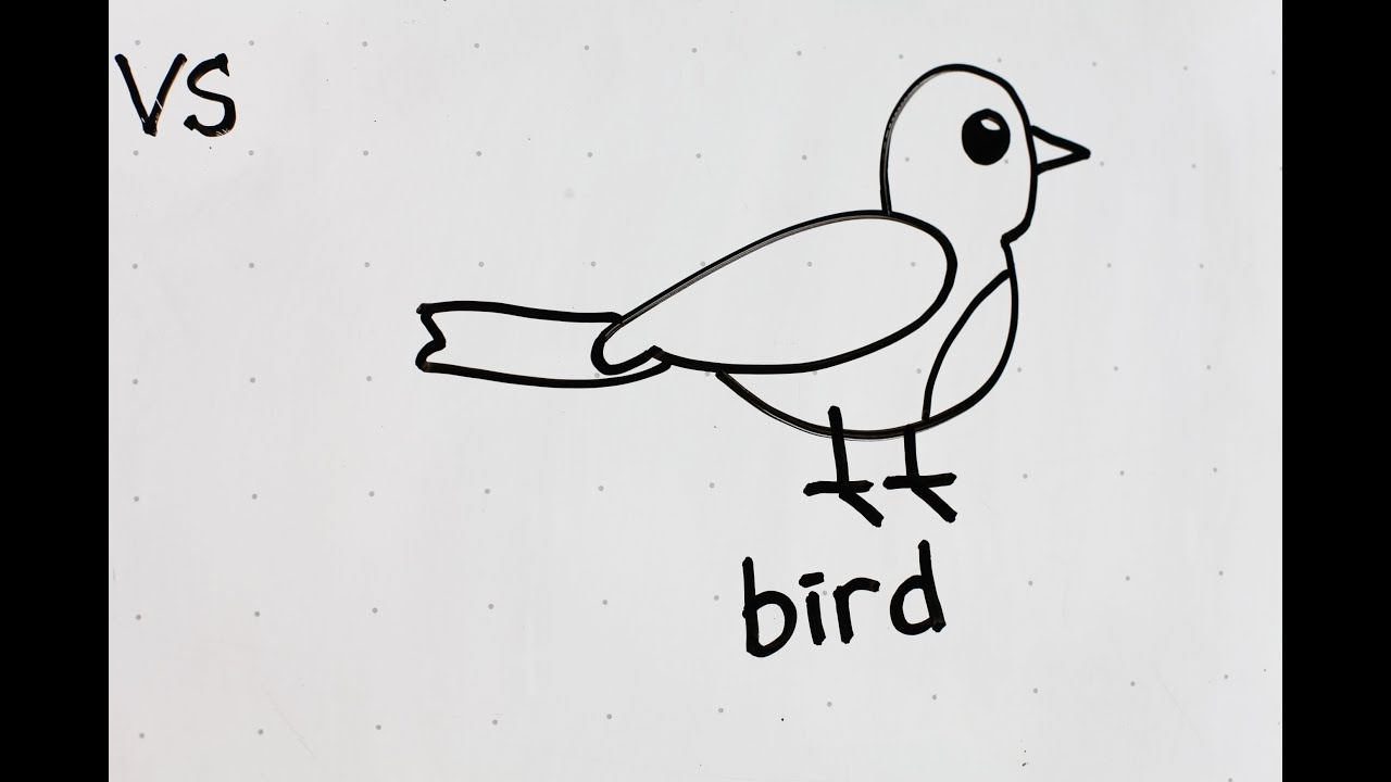 34 Kids Tutorial How To Draw A Bird In 2 Minutes Simple Easy Fun Vivi Santoso