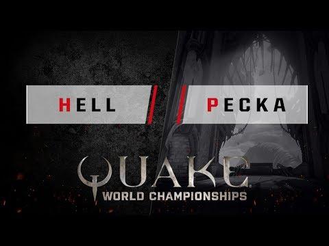 Quake - Hell vs. Pecka [1v1] - Quake World Championships - EU Qualifier #3