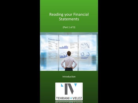 Reading your Financial Statements (1 of 3)