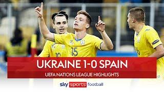Tsyhankov strike seals BIG upset! 😱| Ukraine 1-0 Spain | Nations League Highlights