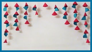 Easy Simple Paper Wall Hanging | How to Decor Wall | Craft Ideas for Home & Room Decoration
