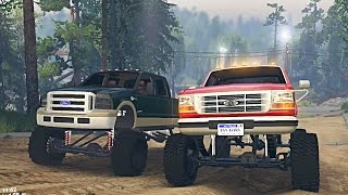 spin tires   ford 6 0 powerstroke vs 7 3 obs on dirt time