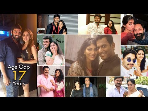 South Indian Celebrity Couples Age Gap Difference | Tamil Telugu Malayalam Kannada
