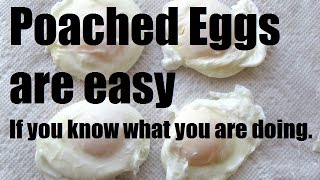 How to poach Eġgs - Easy method for home - French Culinary technique