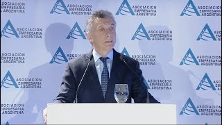 Discurso completo de Macri en la Asociación Empresaria Argentina