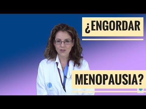 se engorda durante la menopausia